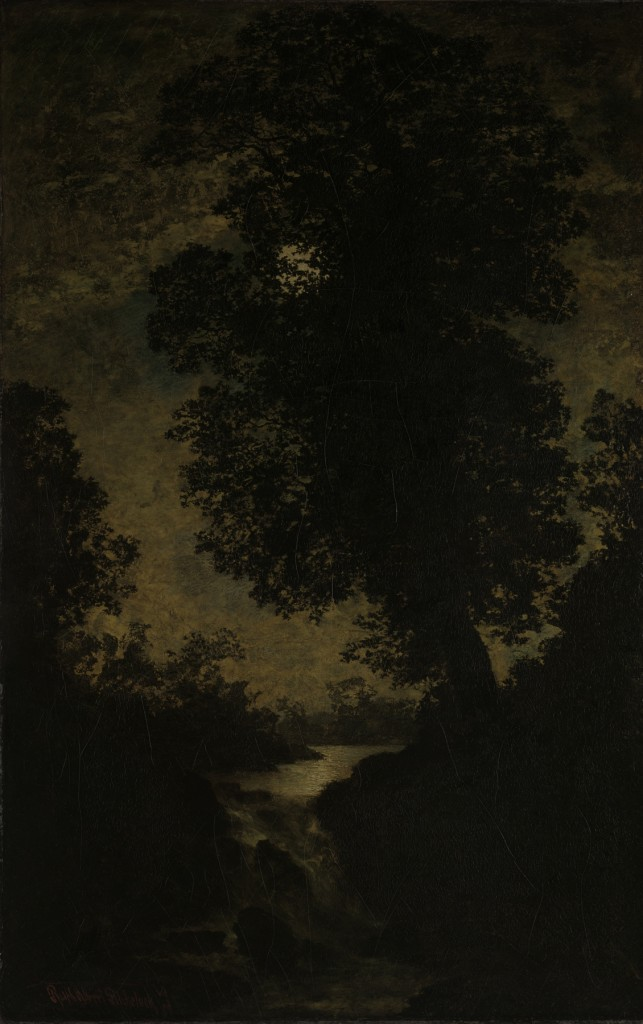 "Ralph Albert Blakelock, ""A Waterfall Moonlight"", (ca. 1886), oil on canvas. Image copyright The Metropolitan Museum of Art."