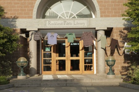 Follow the Shirts (detail, Rockland Public Library). Photo by Alexis Iammarino.