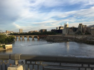 """The Bdote: the Dakota name for St. Anthony Falls, meaning """"confluence"""", or where two waters meet. A sense of place and understanding of the histories and contexts was critical throughout the convening. Photo by the author."""