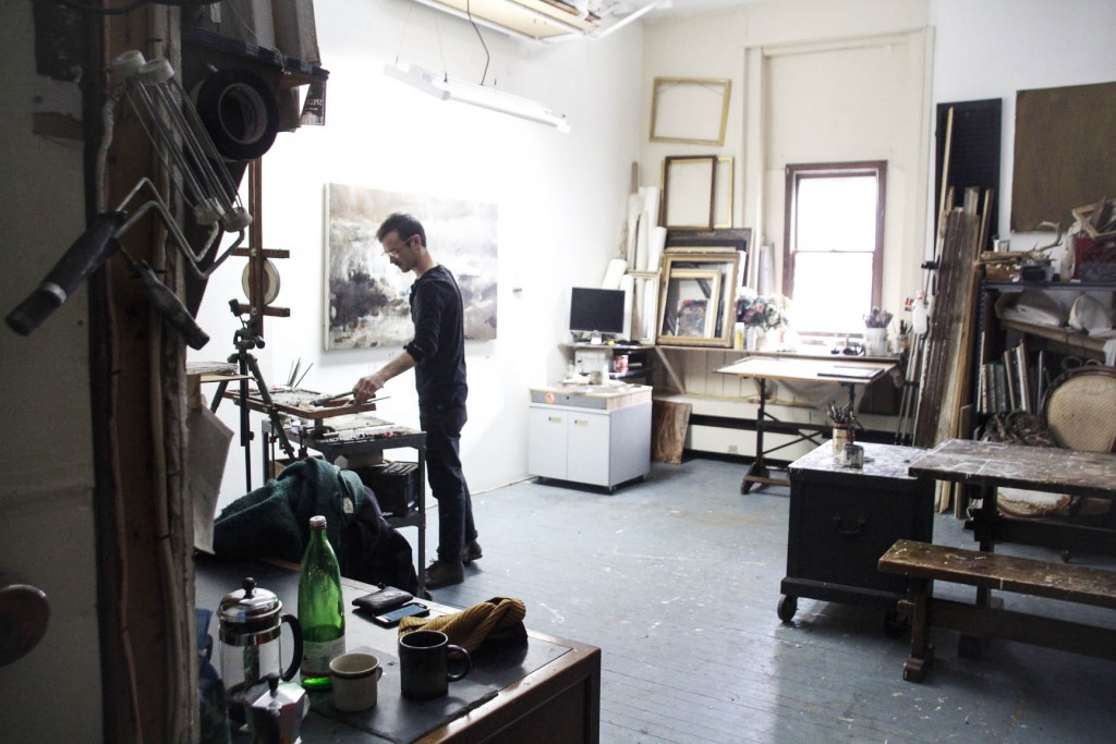 Wilson's studio in Portland, Maine. Photo by Mette Lützhøft.
