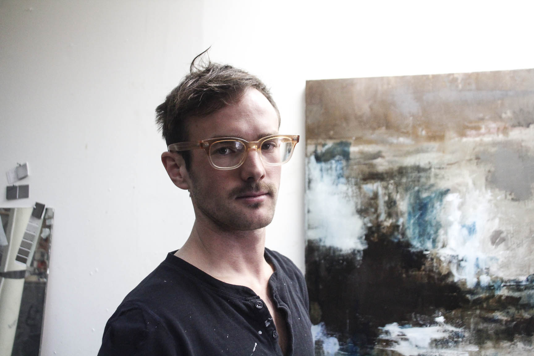 Timothy Wilson in his studio. Portrait by Mette Lützhøft.