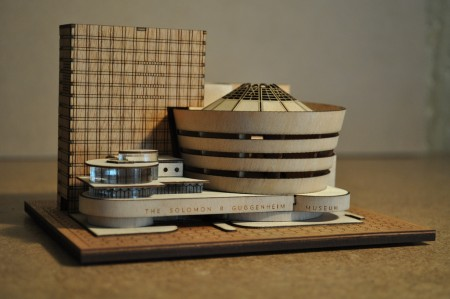 A step-by-step guide to constructing the new art epicenter. Above, a model of the Guggenheim New York by Little Building Co.