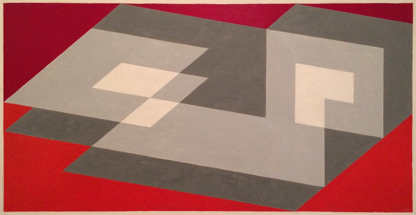 Josef Albers, Tenayuca, oil on masonite, 1943. San Francisco Museum of Modern Art.