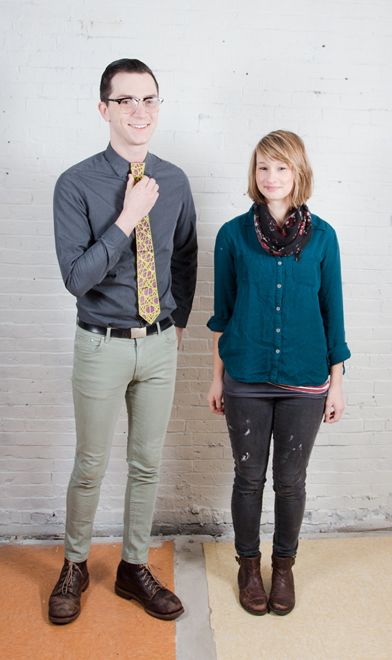 Autus Collective, Hunter Wahl (l) and Tina Guay (r).