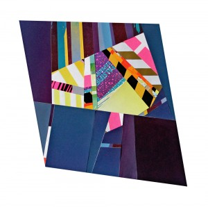 """Mark Price: Falsified Experience, serigraph collage, 11"""" x 13"""", 2013."""