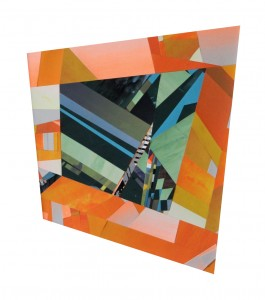 """Mark Price: Freely Available, serigraph collage, 13"""" x 15"""", 2014."""