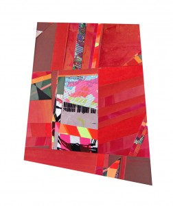 """Mark Price, From Smart To Intrusive, serigraph collage, 11"""" x 13"""", 2014."""