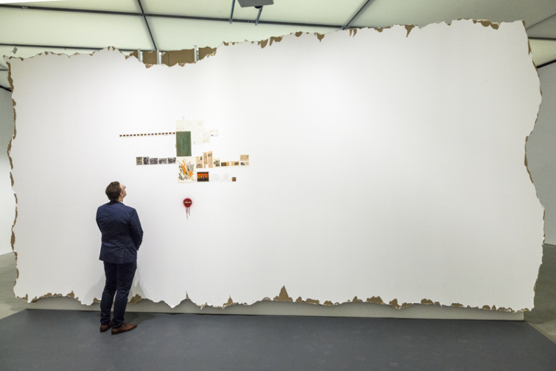 Installation view, Walid Raad, Index XXXVI: Red, Institute of Contemporary Art, Boston, 2016. Photo by John Kennard.