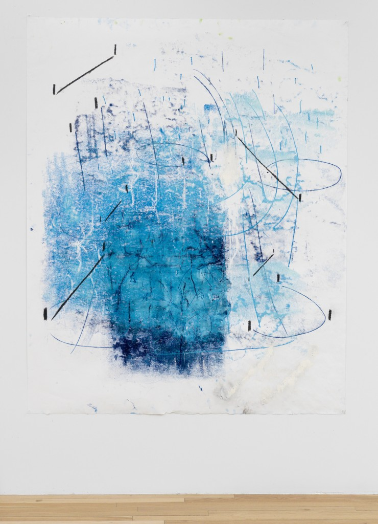 Esther Kläs, BA///, monotype, colored pencil on paper, 72 3/4 x 59 in, 2013. © Esther Kläs. Courtesy of the artist and Peter Blum Gallery, New York. Photograph courtesy of Peter Blum Gallery.