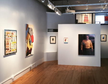 Installation view of American Optimism at Able Baker Contemporary.