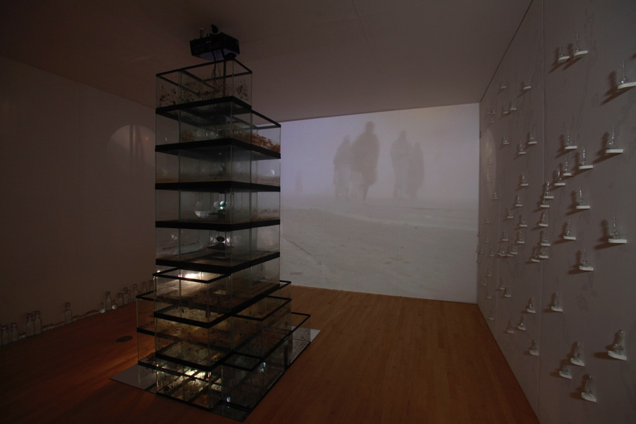 Katarina Weslien, Confluence, video and installation at the John Michael Kohler Arts Center, 2014.