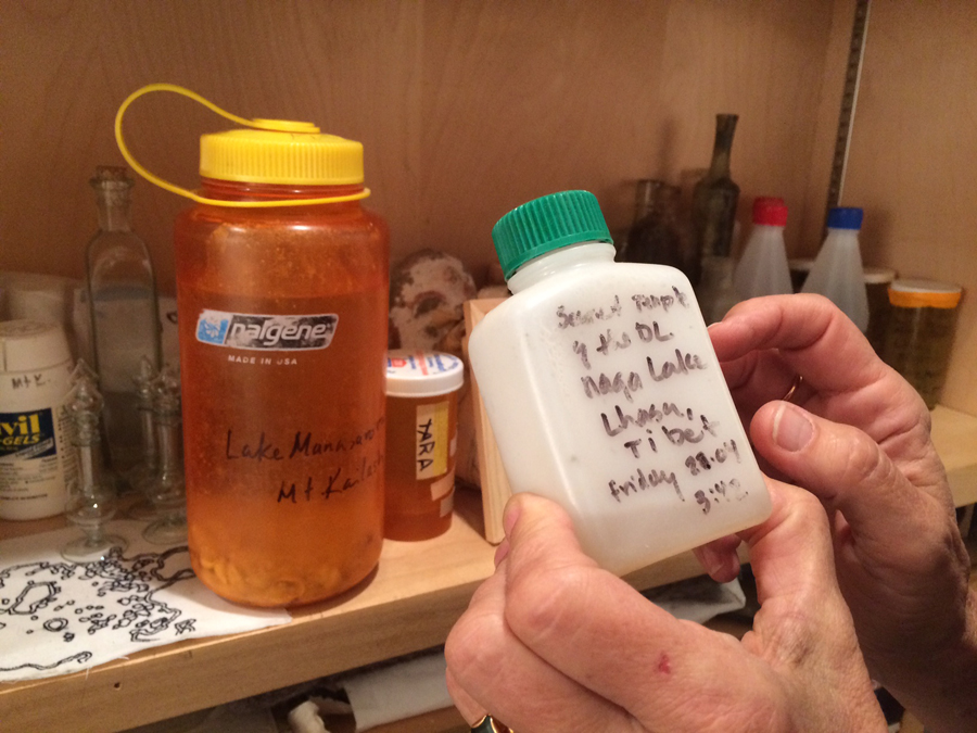 Water in Weslien's studio. Photo by the author.
