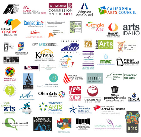 These are the logos for all fifty state arts commissions and the District of Columbia: what do you think?