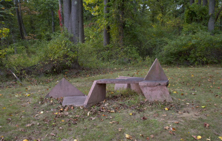 Photograph of the original bench in Clinton, New Jersey, made by Dennis Croteau (date unknown).