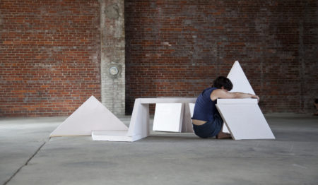 Gordon Hall, The Number of Inches Between Them, performance at Winter Street Warehouse, 2017.