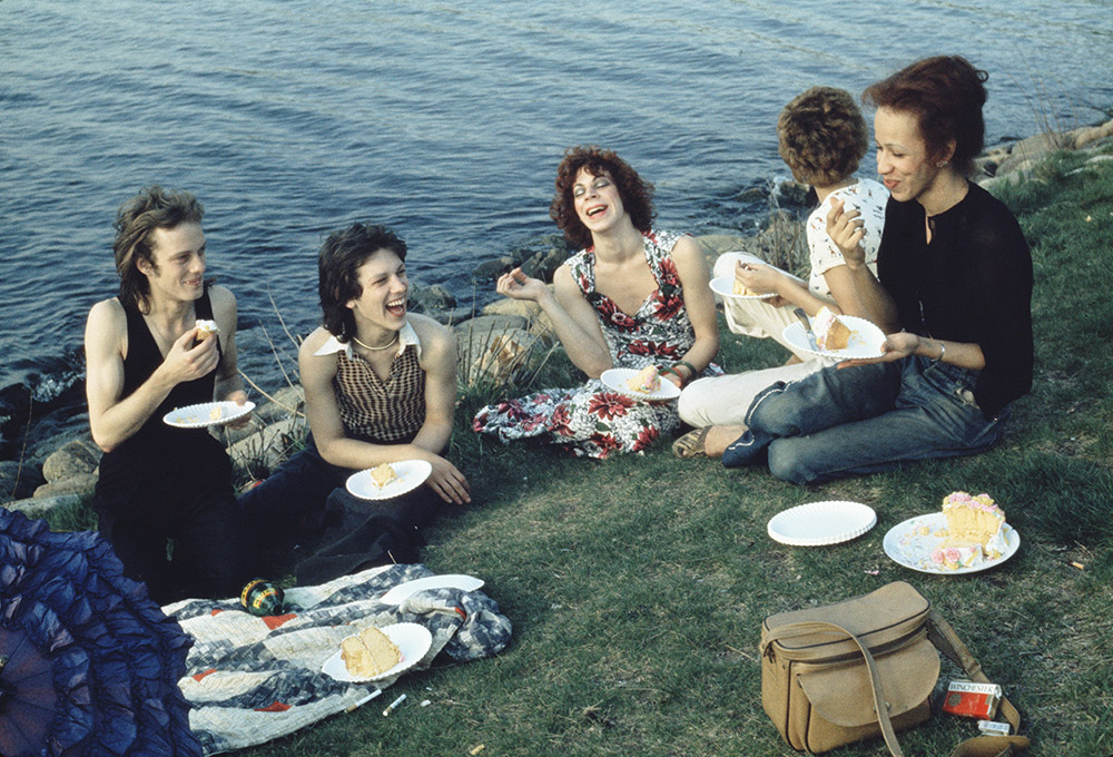 Nan Goldin, Picnic on the Esplanade, Boston, 1973, Silver-dye bleach print, 17 5/8 x 21 5/8 inches. Courtesy the artist and Matthew Marks Gallery.