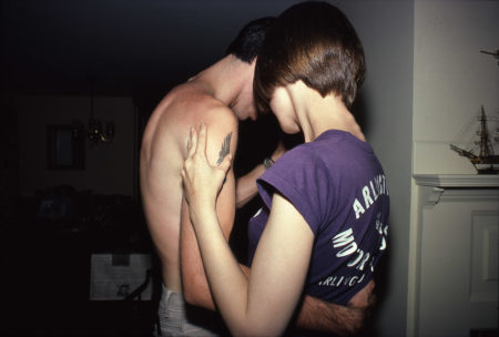 Nan Goldin, Suzanne and Mark dancing, Lexington, MA, 1979, Silver-dye bleach print, 21 x 25 inches. Private collection, Houston, TX.